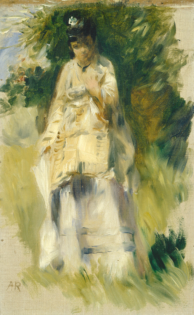 Woman standing by a tree 1866 xx nationall gallery of art washington
